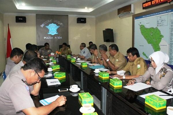 Jasa Raharja Aceh Rakor dengan Tim Pembina Samsat